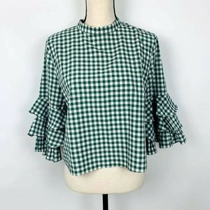Sunday in Brooklyn Gingham Top